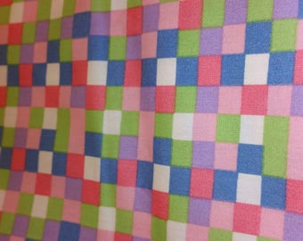 multicolored 100% cotton patchwork fabric