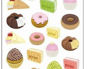 Pastry 41 stickers designs