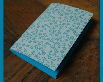 Note book / notebook with blue flowers