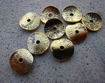 set of 10 spacer wheel warped metal 13mm