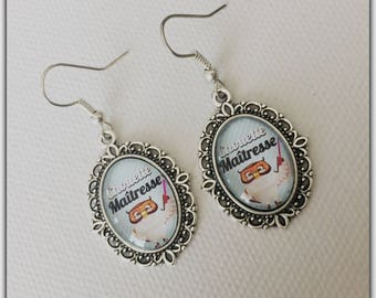 Mistress earrings that torn, end of year gift, school theme