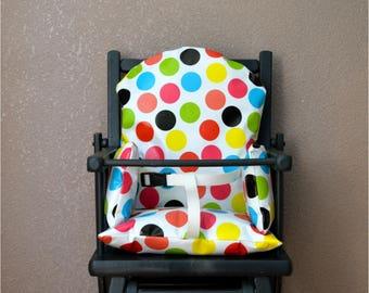 harness for high chair cushion