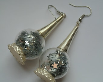 "Earrings ""bubble of stars"""