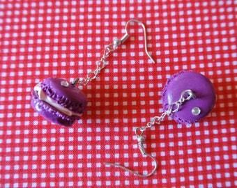 Resin purple macarons
