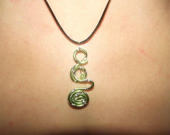 Green Aluminum pendant.