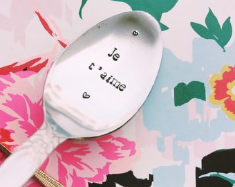 """Engraved spoon """"I love you"""" - engraved spoon"""