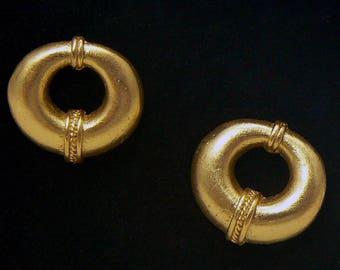 24K GP Precolumbian earrings Tairona nosepiece AT042