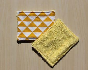 "Washable wipe ""small"" - 8.5 x 11 cm - pattern tirangle"