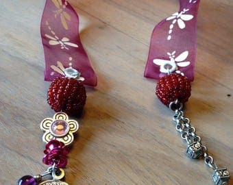 Bookmark with Ribbon tie