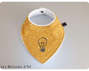 "Bandana bib for baby ""I have an idea!"" from 0 to 9 months"