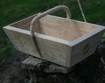Perigord natural pine wood basket