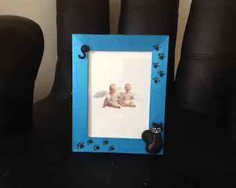 Cat frame... photo dark blue