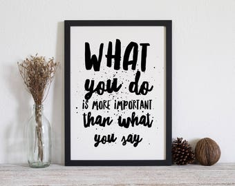 What you do A3 - kitchen print - typographic art - typographic poster