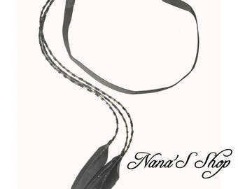 Grey headband, glitter feather jewelry