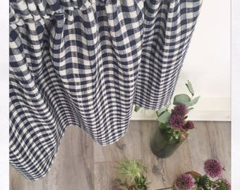 Clemence gingham cotton skirt