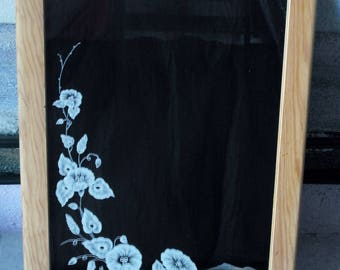 "Etched mirror ""frieze of bindweed"""