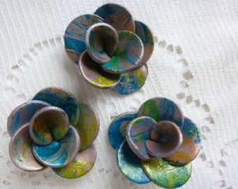 FLOWERS CREATION FIMO JEWELRY ACCESSORIES.
