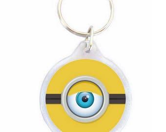 Minion eye Ø40mm keychain