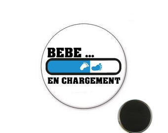 Baby boy baby loading - 32 mm Magnet magnet