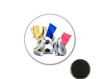 Football euro 2016 Magnet 32 mm magnet