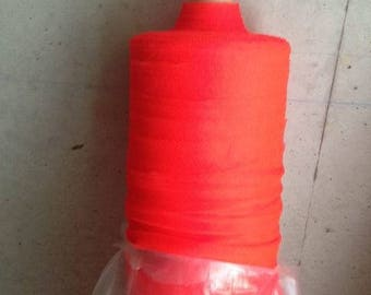Red tulle polyester neon solid flexible width 120 cm