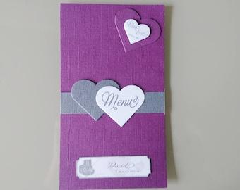 Menu - mark up chic romantic wedding - christening