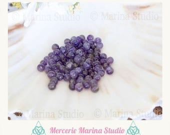 20 Amethyst 4mm natural - reiki - chakra beads