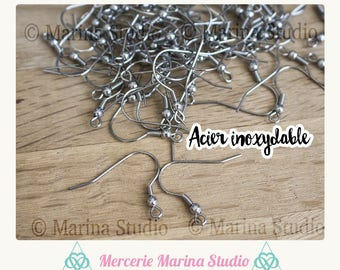 20 (10paires) stainless steel hooks