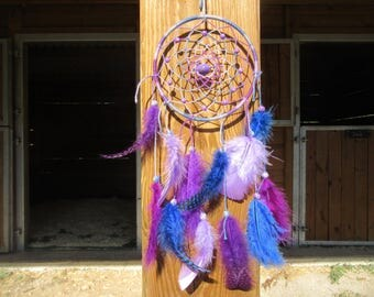Dream catcher blue, purple and lilac / actual 35 cm