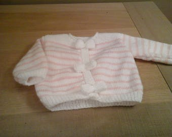 VEST PINK AND WHITE SIZE NEWBORN