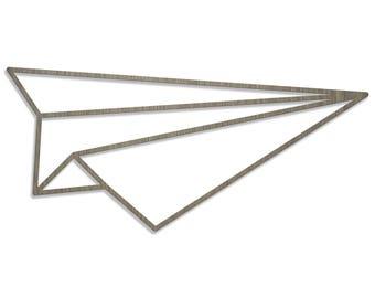 ORIGAMI plane laser cut wood size B