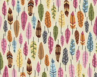 Patchwork fabric feathers Timeless treasures