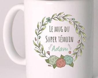 "Personalized ceramic MUG ""mug from the great witness"""