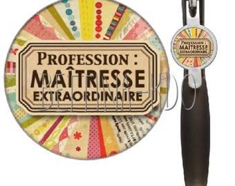 "Black ballpoint pen ""profession: teacher extraordinary"""