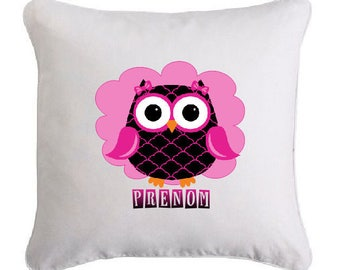 OWL pillow so cute personalized with name