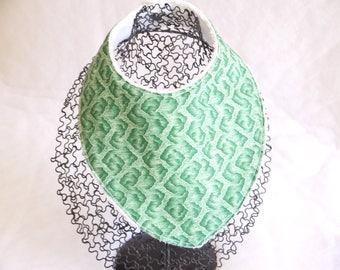 Bib bandana scarf green double Terry