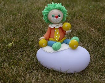 Nightlight multicolor led cold porcelain clown