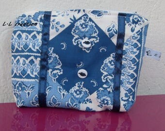 Kit blue and white cotton fabric
