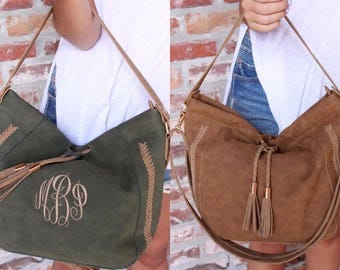 Monogram leather purse, monogram large purse, monogram purse, monogram green purse, monogram brown purse, monogram suede purse