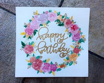 Birthday Floral Wreathe Card
