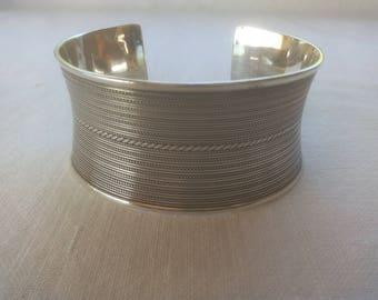 Old Marrocan Silver Cuff Bracelet