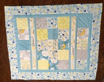 I love you to the moon baby quilt