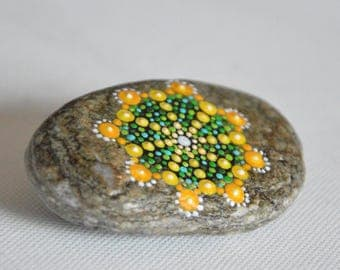 Completely hand painted decorative stone