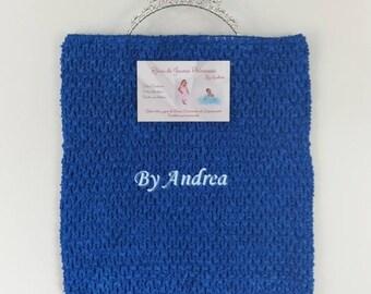 age 9/11, tutu, stretchy, Royal Blue crochet top Bustier