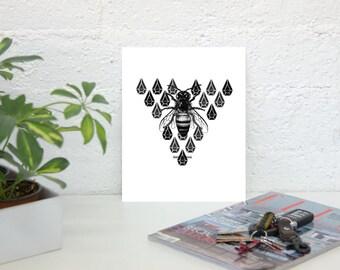 Designer Bumble Bee Print