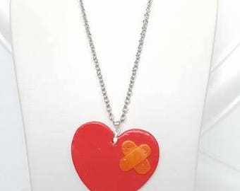 Heart chain with patch