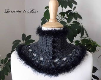 Dark gray neck circumference of Victorian style!