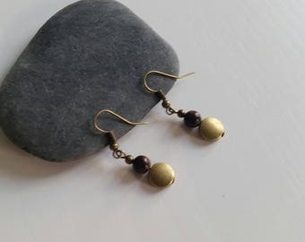 Mahogany Obsidian earrings