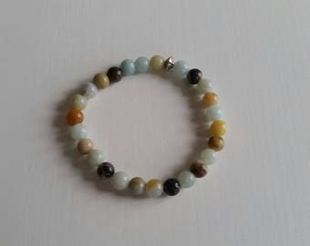 Aventurine multicolor bracelet - beads 6 mm