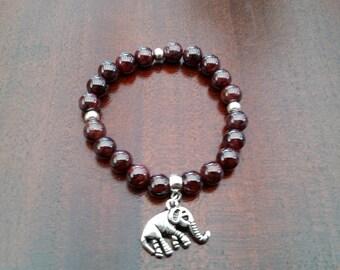 Garnet Bracelet - 8 mm beads
